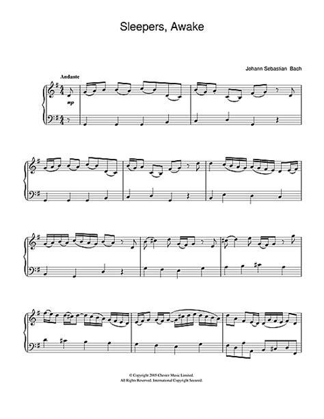 Sleepers Awake Johann Sebastian Bach by Johann Sebastian Bach Sleepers Awake Wachet Auf Sheet
