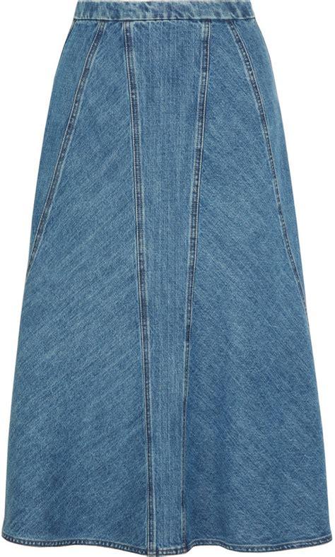 michael kors collection denim skirt shopstyle co uk