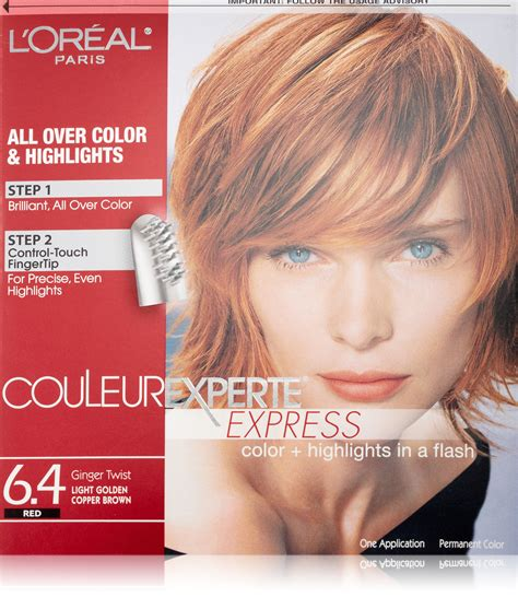 hair coloring ginger copper amazon com l oreal paris superior preference glam lights