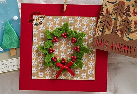 how to make a felt holly christmas card hobbycraft blog