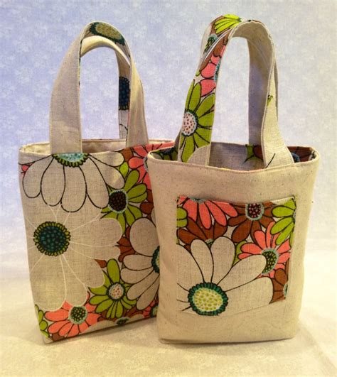 How To Make Handmade Tote Bags - reversible bag pattern