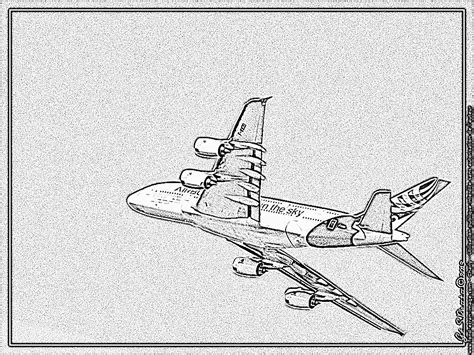 a380 airbus own the sky coloring pages printable free