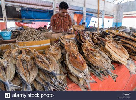 fish market  labuan bajo flores indonesia asia stock