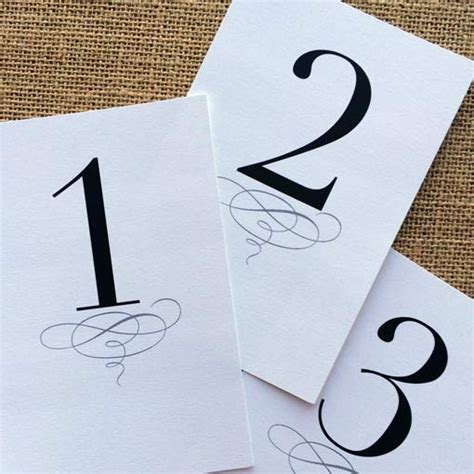 free printable table numbers 1 10 printable classic table numbers design corral