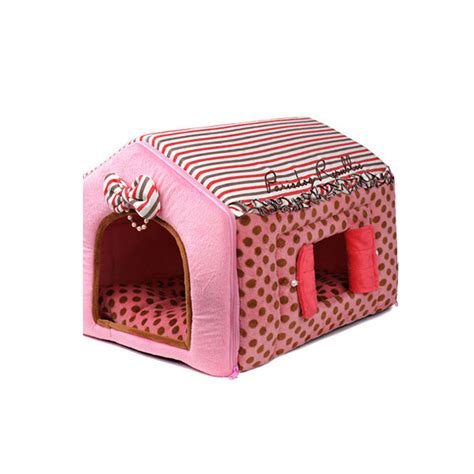 Paris Dog Indoor Polka Dots Dog House Polyester Thread Fabric For Pet Ebay