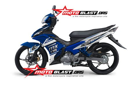Lu Jupiter Mx New modif striping new jupiter mx 135 2014 blue motoblast