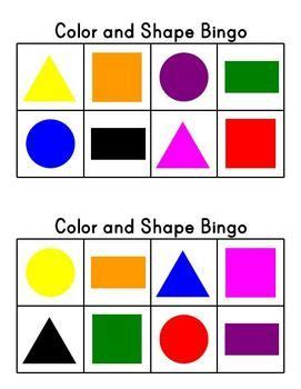 shapes and colors band 11 best images on bingo