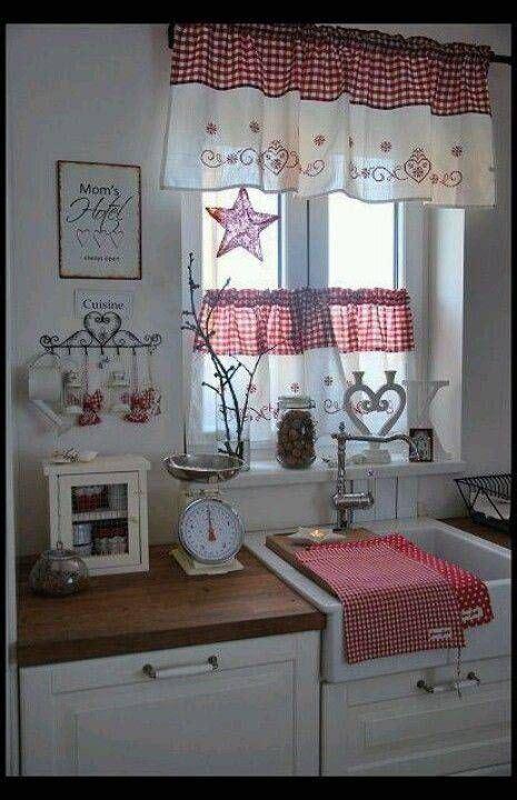 tende country per cucina 1000 idee su tende della finestra della cucina su