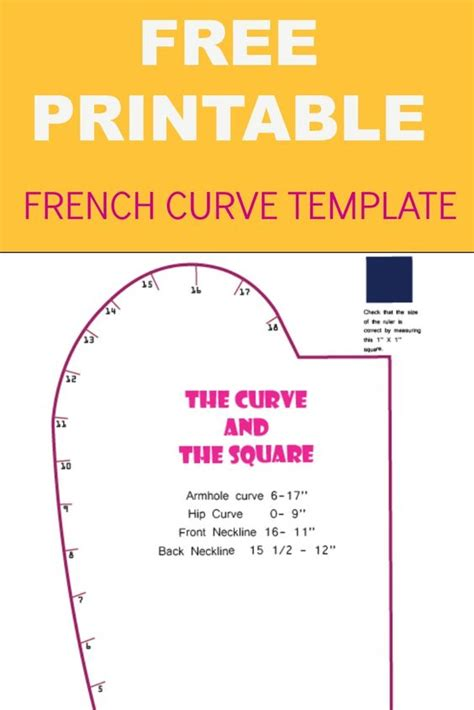 free curve template sewing projects and free printable on