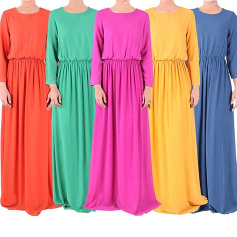 Maxi Dress Muslim Dress Wanita Marissa Maxi abaya kaftan muslim maxi dress abaya islamic sleeve print dress muslim large size