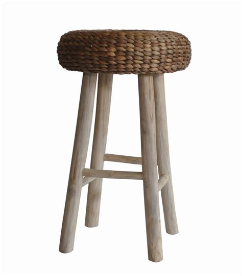 Wood Bar Stools With Wicker Seats by Wood Bar Stool With Wicker Seat Or Square Seat By Za