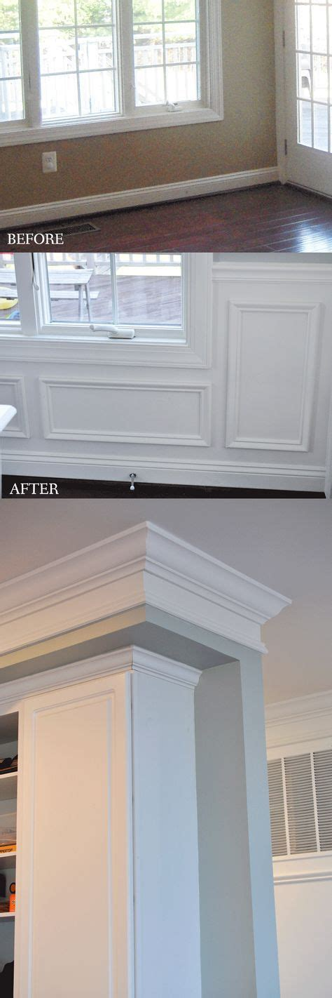 Wainscoting Kitchen Cabinets by Adding Picture Frame Wainscoting To A Kitchen Dining Room