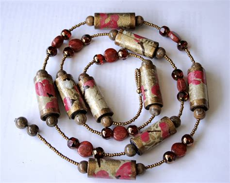 Paper Craft Jewellery - the poetic craft organic recycled jewelry paper necklace