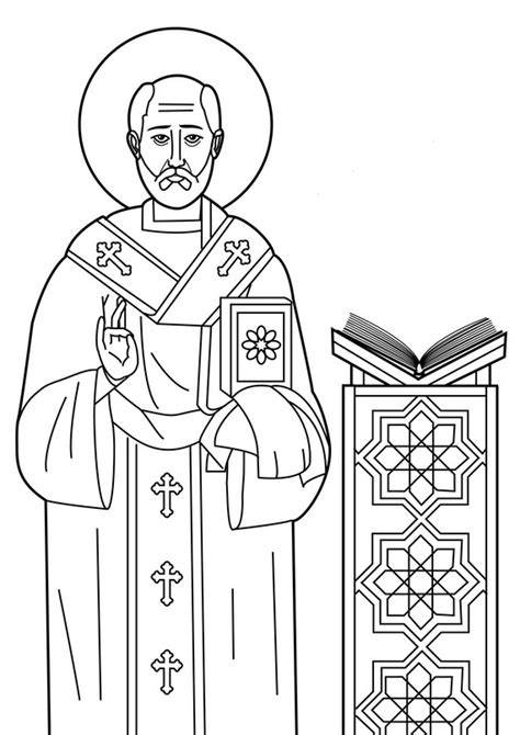 Communion Of Saints Coloring Page Coloring Pages Coloring Pages Of Saints