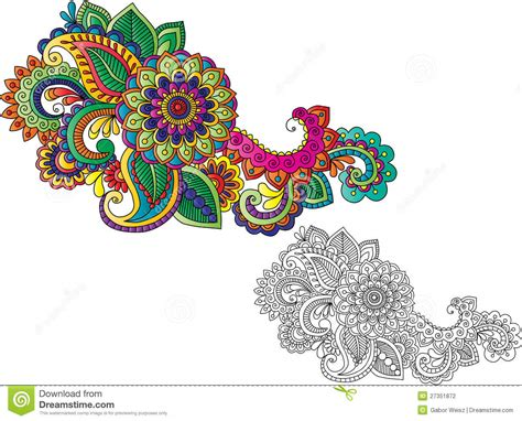 henna tattoo motifs stock vector illustration of filigree