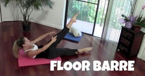 Floor Barre Exercises by Floor Barre Barre Workout Toning Abs Exercises