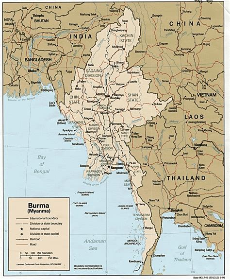 where is myanmar on the map nationmaster maps of burma 11 in total