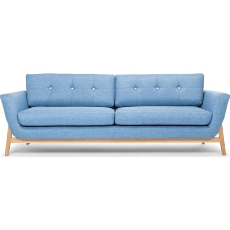 denim fabric sofa helgrim 3 seater fabric upholstered sofa denim blue buy