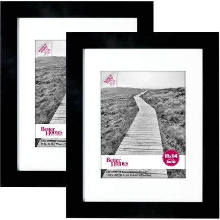 14 X 22 Matted Frame by Wide Black Gallery Frames 11 Quot X 14 Quot Matted To 8 Quot X 10 Quot 2