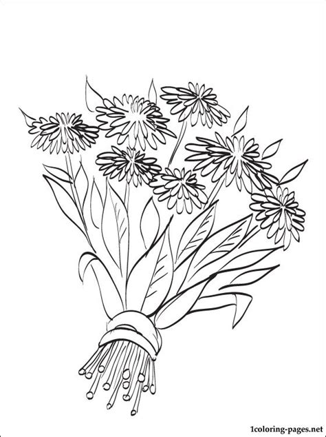 coloring pages of fall flowers autumn flowers coloring page coloring pages