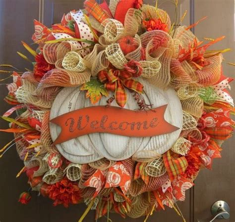 mesh wreath ideas fall deco mesh wreath ideas inspiring autumn decor for