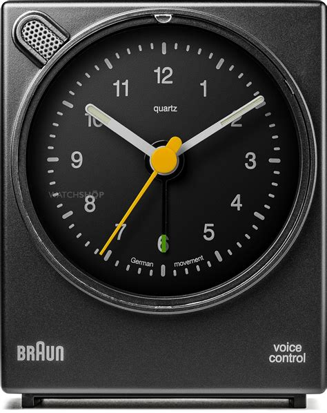 braun clocks voice activated bedside alarm clock bnc004bkbk shop