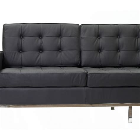 contemporary black leather sofa bateman leather sofa modern furniture brickell collection