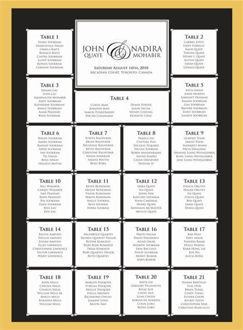 wedding seating chart template 11 free sle exle