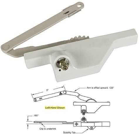 products truth hardware truth hardware dyad casement window operator with offset arm