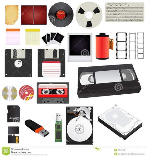 Storage Medium storage media stock vector image 53563473