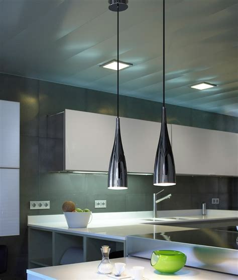 Elegant Slim Pendant Light in Black or White