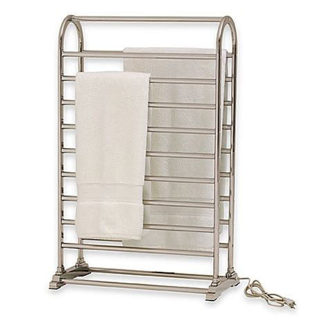 bed bath and beyond towel warmer vauxhail towel warmer and dry rack satin nickel bed