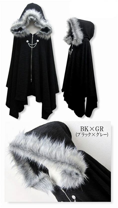 Dms785 Cape Sweet Sihrt details about harajuku cloak coat hoodie jacket shawl cool black q