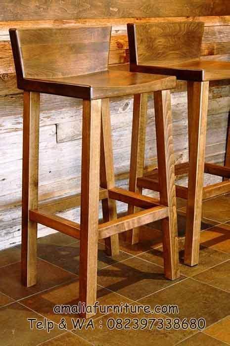 Kursi Panjang Cafe kursi bar minimalis jati kaki panjang amalia furniture
