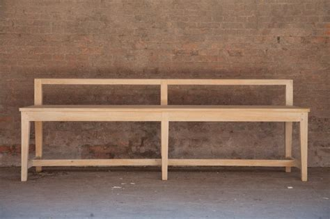 lower back bench bench with low back solid oak products st paul home
