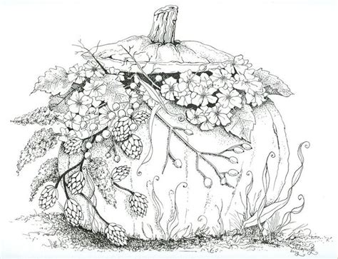 Detailed Pumpkin Coloring Page | pompoen pompoen pinterest