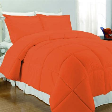 solid orange comforter rise shine orange and white comforter bedding sets