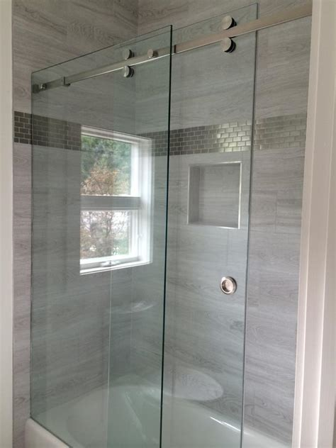 Custom Sliding Shower Doors Custom Frameless Sliding Shower Doors Louisiana Brigade