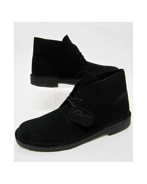 Clarks Originals Desert Boot In Suede Black Clarks