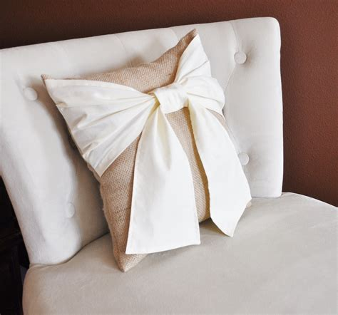 burlap pillows throw pillow bow on burlap rustic pillow 14x14 rustic