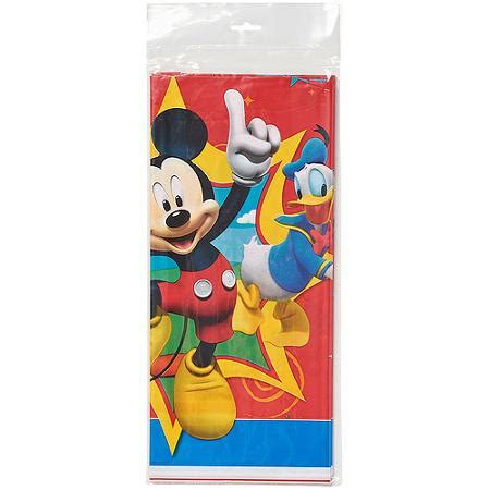 mickey mouse clubhouse table cover mickey mouse clubhouse plastic table cover 54 in x 96 in