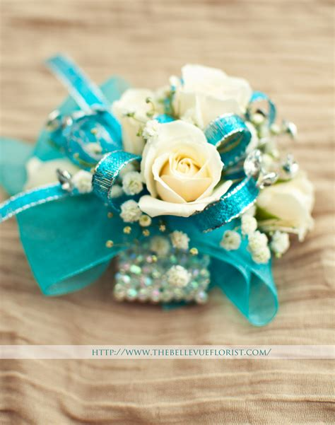 wrist corsages prom 2015 the elsa a fantastic sparkly corsage white roses with a