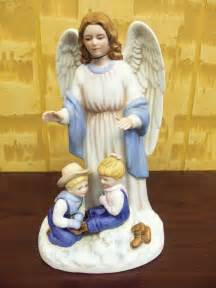 Home Interior Angel Figurines by Home Interiors Homco Denim Days Quot Guardian Angel Quot Figurine