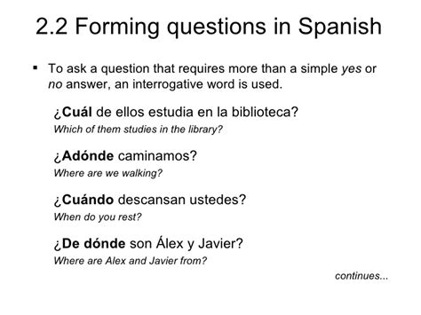 Tutorial Forming Questions In Spanish Quizlet | spanish i 2017