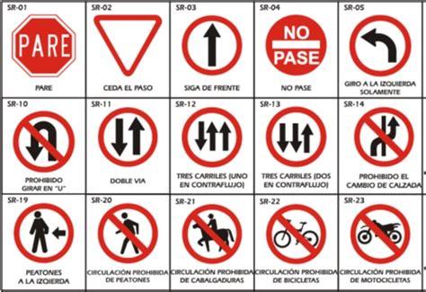 imagenes de señales informativas con su significado todo sobre las se 241 ales de tr 225 nsito pruebaderuta com
