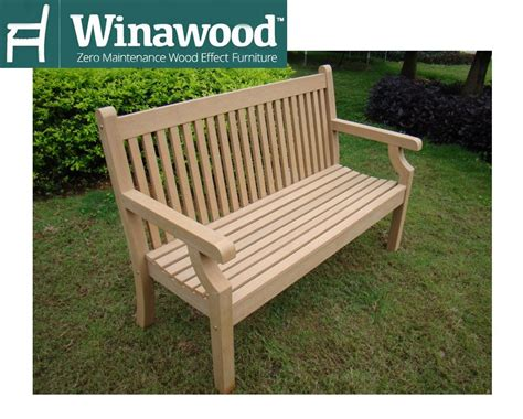 sandwick winawood 2 seater wood effect garden bench teak finish 163 252 53 search result for garden bench norwich cing