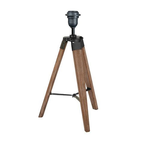 wooden tripod table l industrial wood tripod table l base by quirk
