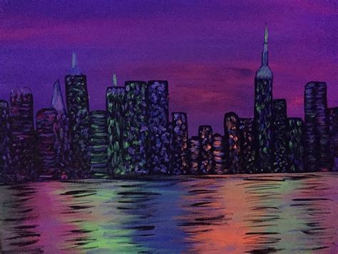 paint nite nyc photos paint nite nyc nightlife glow in the