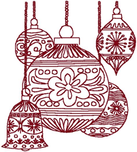 redwork christmas ornaments 2 embroidery design