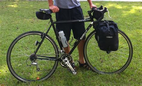 touring with front panniers only bike forums